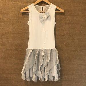 Vertical Ruffle Skirt Dress by Isobella & Chloe